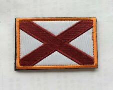 Alabama Flag Usa Army Morale Badge Embroidery Hook & Loop Patch