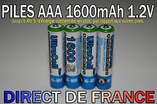 4 Piles AAA Rechargeable 1600mAh 1.2V ULTRA NIMH R3 R03 LR3 LR03 Accus - HOT