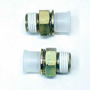 Genuine GM 88891754 Lot of 2 Engine Oil Cooler Line Connector For Chevrolet GMC