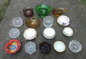 Lot/Collection of (16) Different Open Salt Dip, Cellar, Dishes!