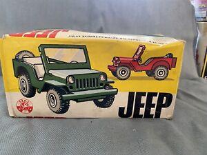Vintage Tin Toy Wind-Up Koh-I-Noor Ites Jeep Czecho Like Arnold Jeep 1960 Mib