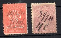 Victoria 1879 4s & 5s Stamp Duty Revenue used WS10388