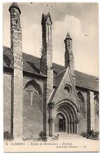 CPA 22 - LANNION (Côtes d'Armor) - 74. Eglise de Brélevenez. portail. Les trois