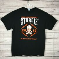 Sturgis 75 Anniversary Graphic T Shirt Adult L 2015 Black Motorcycle