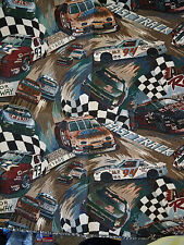"Tapestry Upholstery Fabric Panel Car Auto Racing Checkered Flag 25.5""x27"""