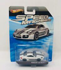 Hot Wheels Speed Machines White Porsche Cayman S 1:64