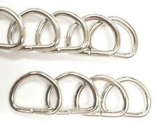 Metal D rings unwelded split curtain tieback dee loop buckle tie back hook ring