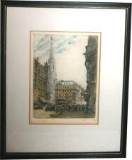 Josef Ferdiand Benesch Farbradierung Stefanskirche Dom zu St. Stephan Wien 1920