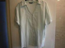 MINT LAMINATA SCOLLO A V blusa taglia 20 con profilo