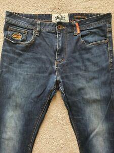Superdry Vintage Corporal Slim Jeans W34 L32 Denim Dark Wash