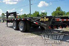 New 8 X 25 (20+5) Dual Tandem 10 Ton Deckover Equipment Gooseneck Trailer