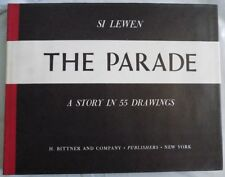 Si Lewen - The Parade - 1957 - Signed Limited Ed. 61/100 + Original Woodcut