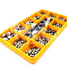 200 pièces inoxydable A2 nyloc insert écrou kit, M2.5 M3 M4 M5 M6 M8 DIN985 nuts