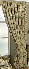 66 X 90 Drop 168x229cm Heavy Green Tapestry Single Door Curtain Period Style
