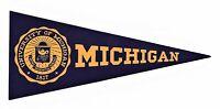 1930's Original University of Michigan Paper Pennant Label