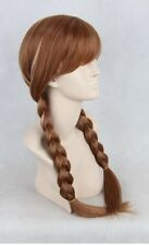 Disney Frozen Princess Anna Gold Brown Cosplay Costume Adult Wigs