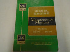 1963 GMC 6V-71 8V-71 Truck Diesel Service Shop Repair Manual OEM Factory Book