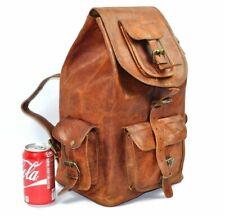 Men's Genuine Goat Leather Laptop Back pack Rucksack Messenger Satchel New Bag