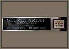 Secretariat Triple Crown Photo Nameplate Ron Turcott Belmont Kentucky Derby 8x10