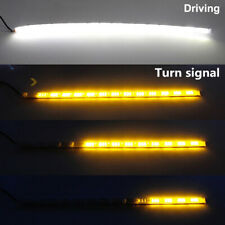 2X 14LED Switchback Car Flexible LED Strip Light DRL Sequential Turn Signal Lamp