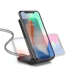 Fast Qi Wireless Charger Dock Ladegerät Schnellladestation für iPhone 8 X XS XR