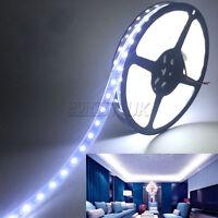 5M 5050 LED Tira luz blanca cinta 300 Impermeable Flexible 12V  franja de luces