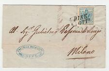 STORIA POSTALE 1857 LOMBARDO VENETO 45 C. UDINE 4/10 B/8162