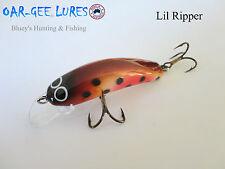 Oar-gee Lil Ripper 4cm 3.4g Bream, trout, Bass freshwater fishing lure; col BT