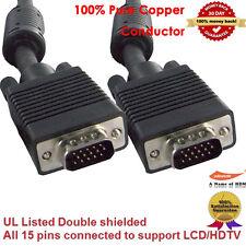 10-Feet Thin Coax High Resolution VGA Monitor Cable -Low Profile HD15 M/M