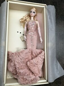 Silkstone Barbie Mermaid Gown Pink blush Convention Collector Doll Box New