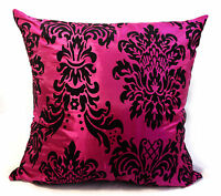 CUSHIONS CUSHION COVERS LARGE SET OF 4 DAMASK CUSHIONS PINK FILLED