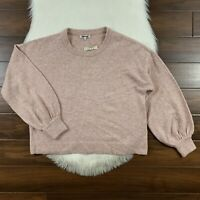 Madewell Women's Size Medium Gladwell Balloon Sleeve Pullover Sweater Top L0015