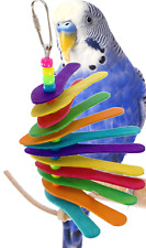 886 SPOON BIRD TOY parrot cage craft toys cages cockatiel budgie parrotlet