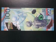 Russia 100 Rubles Gem Unc Banknote 2018 Fifa World Cup Polymer Rare Serial Ab