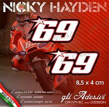 2 Adesivi Stickers HAYDEN 69 Ducati 2013Replica