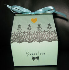 50 Sweet Love Wedding Party Favor Candy Boxes (BLUE)