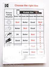 Kodak 35mm Gold Film Choose the Right Film 10 Tips Card AF-22 1998 - VINTAGE B9