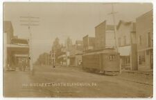 RPPC TROLLEY Car in NORTH CLARENDON PA, Pennsylvania Real Photo Trolly Postcard