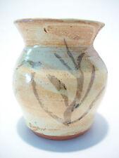 Vintage Glazed & Decorated Terracotta Studio Pottery Vase - Circa 1970's