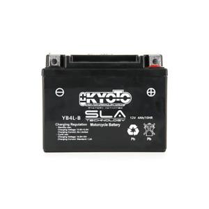 KYOTO - Batterie Moto 12V Sans Entretien Prête à l'Emploi - Gb4L-B Sla Agm - L1