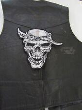 """Grand patch écusson """"tête de mort  foulard"""" biker,harley,moto,country,21 X 24 cm"""