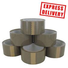 36 ROLLS ALL TAPE BROWN PVC / VINYL PACKAGING  BOXING SEALANT TAPE 48MM X 66M