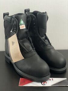 "Red Wing 4273 8"" Inch Steel Toe Boots Men's Size 8 H Waterproof Supersole"
