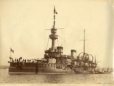 France, le Brennus, cuirassé, Marine Française, navire de guerre  Vintage albume