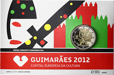 Portugal 2 euros conmemorativa 2012 pp capital cultural en guimaraes coincard