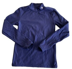 Champion Boys Navy Blue Cold Weather Gear Compression Long Sleeve Shirt 7-8