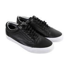 921d02af4a VANS Mens Black Old Skool Low Top Leather Skateboarding SNEAKERS Shoes 6.5