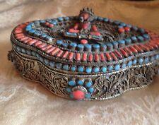 Antique Impressive Nepalese Trinket Box