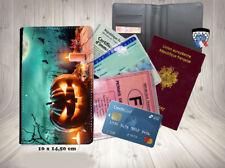 halloween - citrouilles 009 porte cartes permis passeport grise