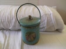 Antique Tea Tin - Turquoise Nice Graphics - London